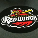 Greenfield Flooring's custom made walk-off mats for the Red Wings!
